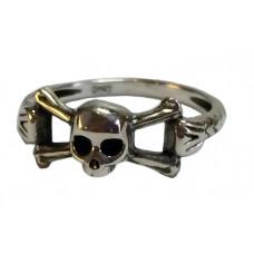Memento mori ring Ri-51 silver